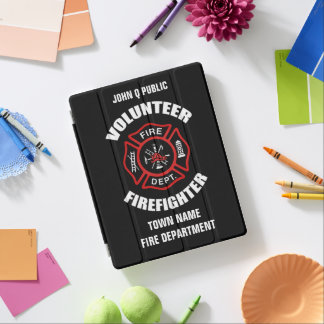Volunteer Firefighter Name Template iPad Cover