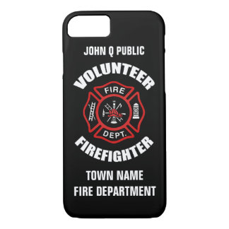 Volunteer Firefighter Name Template iPhone 8/7 Case