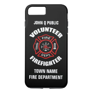 Volunteer Firefighter Name Template iPhone 8 Plus/7 Plus Case