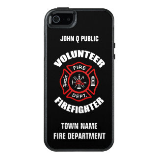 Volunteer Firefighter Name Template OtterBox iPhone 5/5s/SE Case
