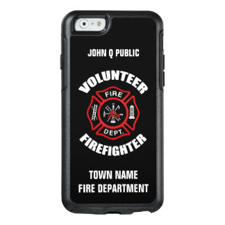 Volunteer Firefighter Name Template OtterBox iPhone 6/6s Case