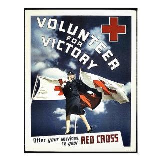 Volunteer For Victory 21.5 Cm X 28 Cm Flyer