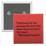Volunteer Heart Pinback Buttons