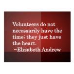 Volunteer Heart Post Cards