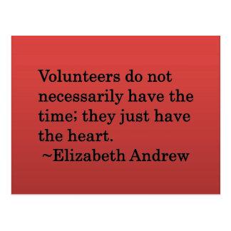 Volunteer Heart Postcards