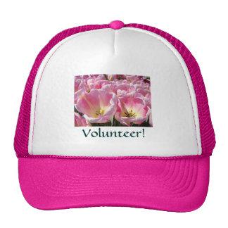 Volunteer! sports cap baseball hats Pink White