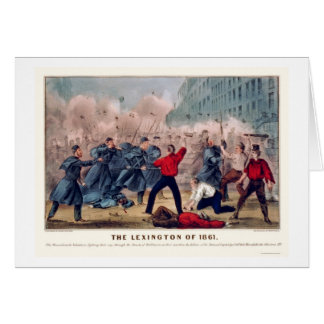 Volunteer Street Fight in Baltimore 1861 Card