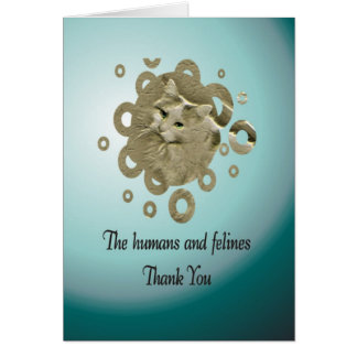 Volunteer Thank You, Cat Rescue Greeting Card