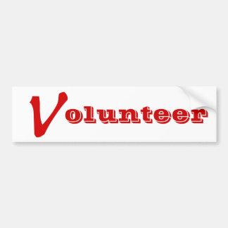 Volunteer Tshirts, Volunteer Buttons and more Bumper Sticker