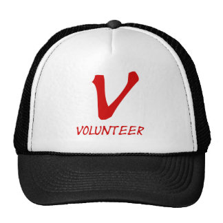 Volunteer Tshirts, Volunteer Buttons and more Mesh Hat