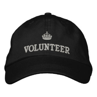 Volunteer with crown logo embroidered hat