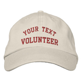 Volunteer Your Cause Embroidered Hat