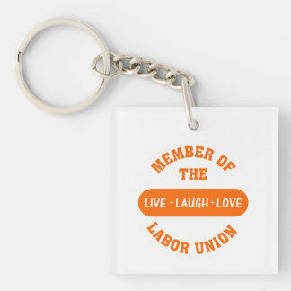 Volunteering to help others is a labor of love Single-Sided square acrylic key ring