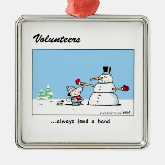 Volunteers always lend a hand! christmas ornament
