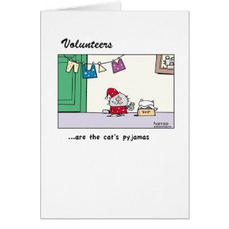 Volunteers are the cat's pyjamas.png greeting card