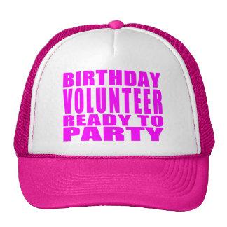 Volunteers : Birthday Volunteer Ready to Party Hat
