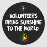 Volunteers bring sunshine to the world