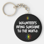 Volunteers bring sunshine to the world basic round button key ring