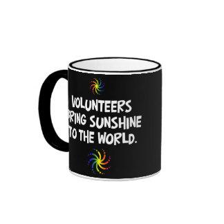 Volunteers bring sunshine to the world coffee mugs