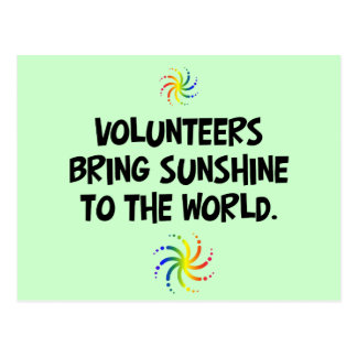 Volunteers bring sunshine to the world postcard