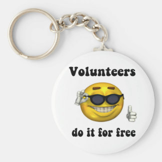 Volunteers do it for free key ring