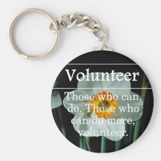 Volunteers do more for others key ring