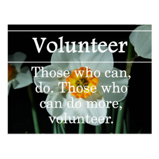 Volunteers do more for others postcard