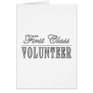 Volunteers First Class Volunteer Greeting Card