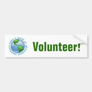 Volunteers Make a World of Difference Bumper Sticker
