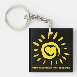 Volunteers shine from the heart light up the world key ring