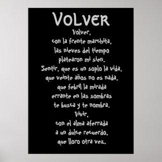 Volver Lyrics Poster