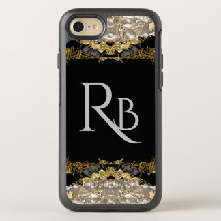 Vonrowess Create your own Monogram  Protection OtterBox Symmetry iPhone 8/7 Case