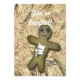 Voo Doo Doll - Interactive (Move the Pins) 13 Cm X 18 Cm Invitation Card
