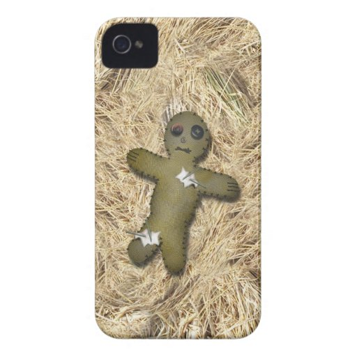 Voo Doo Doll w/Pins on Straw iPhone 4 Case-Mate Cases