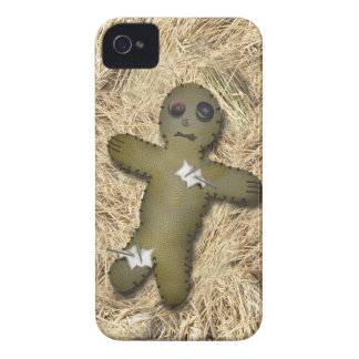 Voo Doo Doll w/Pins on Straw Case-Mate iPhone 4 Cases