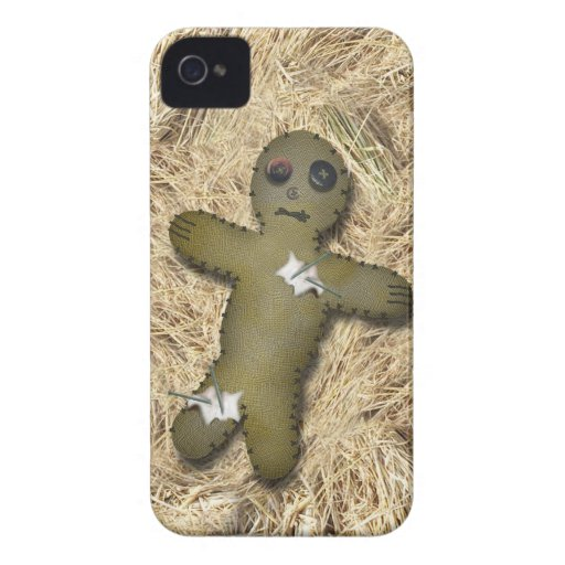 Voo Doo Doll w/Pins on Straw Blackberry Bold Cases