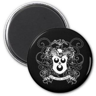 Voodoo Art Black and White 6 Cm Round Magnet