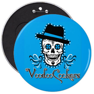 VooDoo Cookers blue Colossal, 6 Inch Round Button