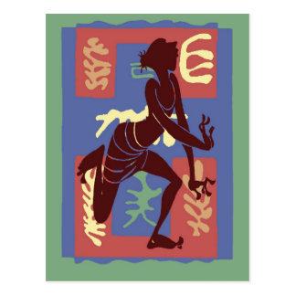 Voodoo Dancer After Matisse Postcard