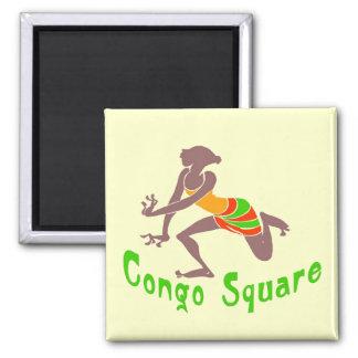Voodoo Dancer Congo Square Square Magnet