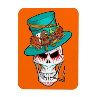 Voodoo Day of the Dead Rectangular Photo Magnet
