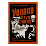 Voodoo Devil Drums - Poster with Man