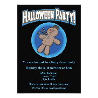 Voodoo Doll Halloween Invitation