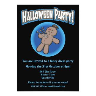 Voodoo Doll Halloween Invitation 13 Cm X 18 Cm Invitation Card