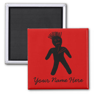 Voodoo Doll Square Magnet