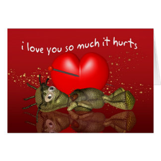 Voodoo Doll Valentine's Day Card, I Love You So Mu Card