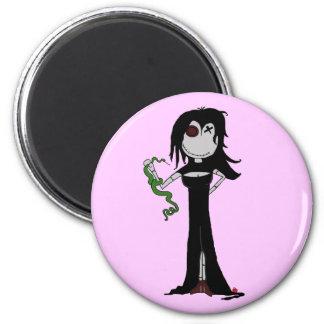 """VooDoo Dollies """"Racy Amorous"""" 6 Cm Round Magnet"""