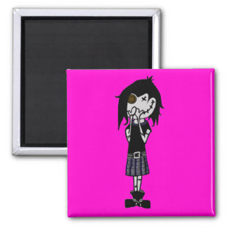 """VooDoo Dollies """"Rascal Deviltry"""" Square Magnet"""