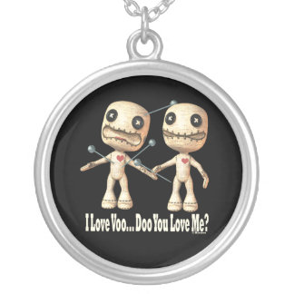 VooDoo Dolls Silver Plated Necklace