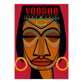 Voodoo Face Matisse Style Poster